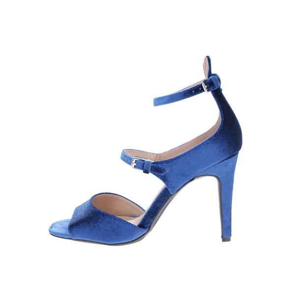 Sandale albastru satinat cu toc înalt - Dorothy Perkins