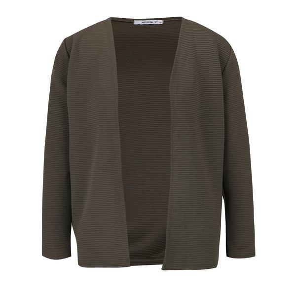 Jachetă subțire kaki cu mâneci 3/4 Haily´s Penna