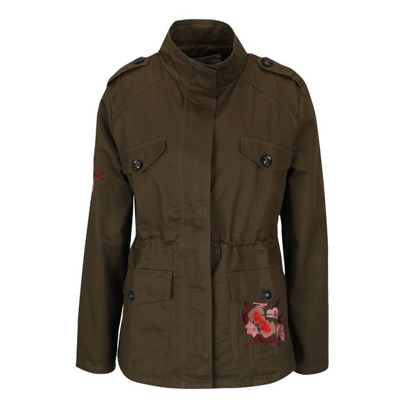 Jachetă kaki parka cu broderie Haily´s Embry