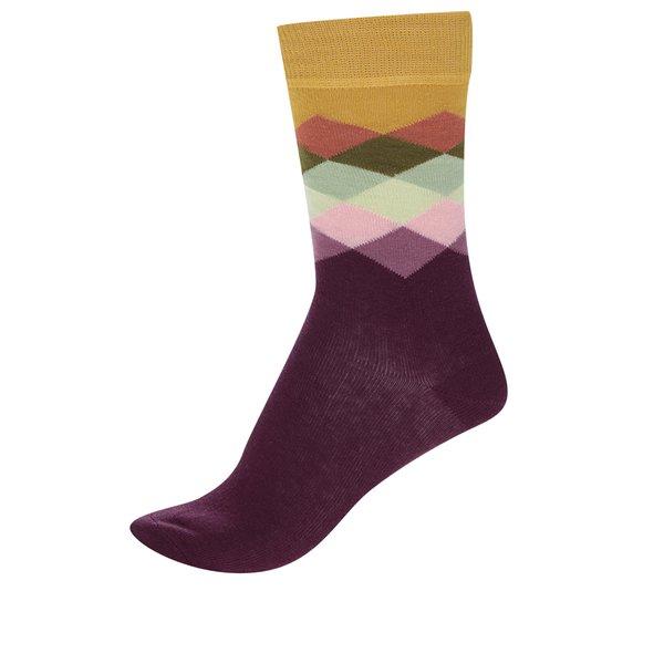 Șosete u model Happy Socks Faded Diamond