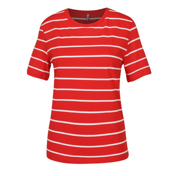 Tricou rosu & alb cu dungi – ONLY Great