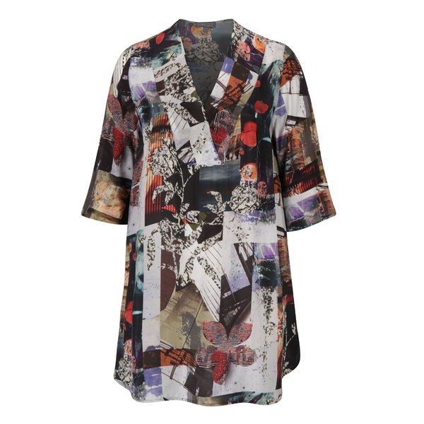 Bluza multicolora cu maneci 3/4 si imprimeu – Ulla Popken