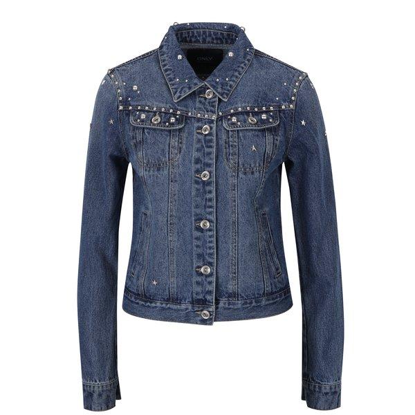 Jacheta albastra din denim cu tinte – ONLY Cam