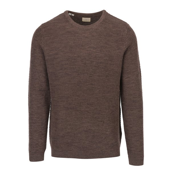 Pulover tricotat maro Selected Homme New Vince