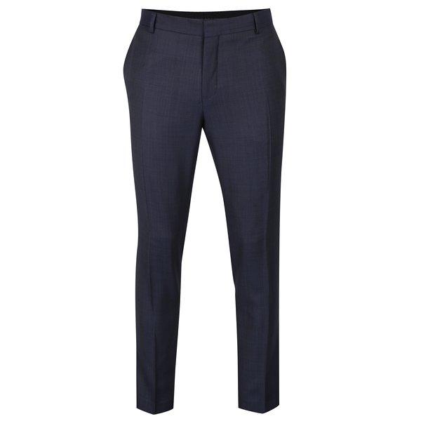 Pantaloni bleumarin de costum din lână Jack & Jones Premium Thom