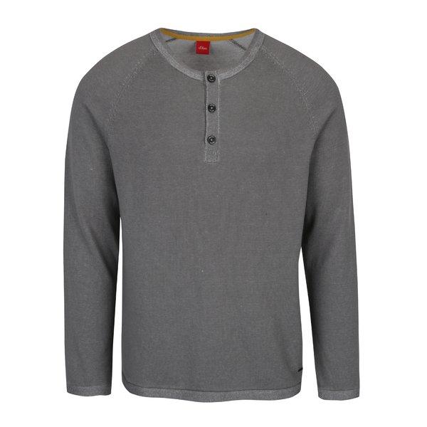 Bluză gri din jerseu subțire s.Oliver
