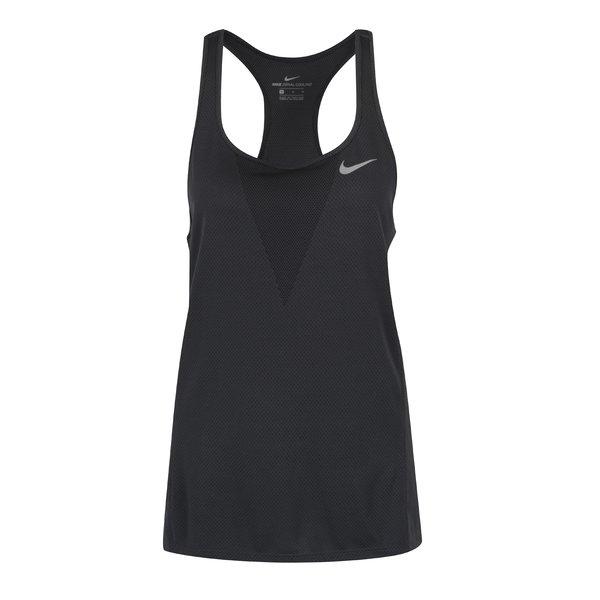 Top negru cu perforații pentru femei Nike