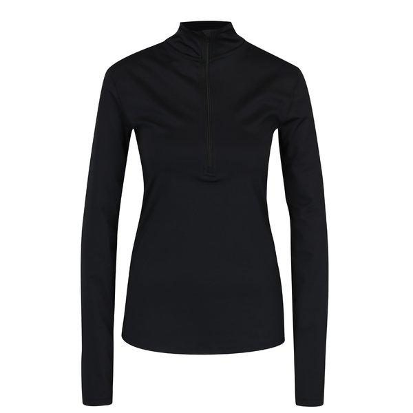 Helancă neagră cu fermoar pentru femei Nike Pro Warm