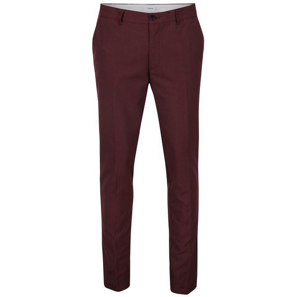 Pantaloni chino roșu bordo - Farah Basset