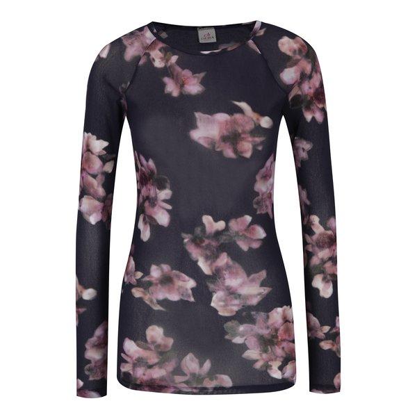 Bluză cu imprimeu floral mov & roz - DEHA