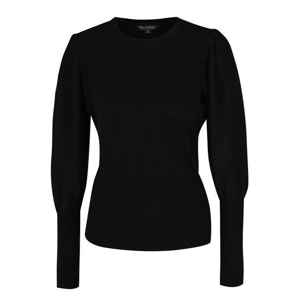 Pulover negru cu mâneci bufante - Miss Selfridge