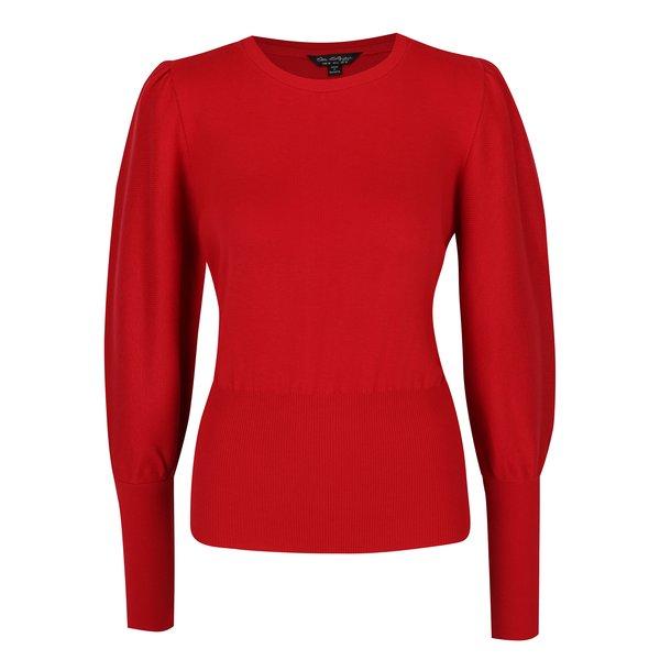 Pulover roșu cu mâneci bufante - Miss Selfridge
