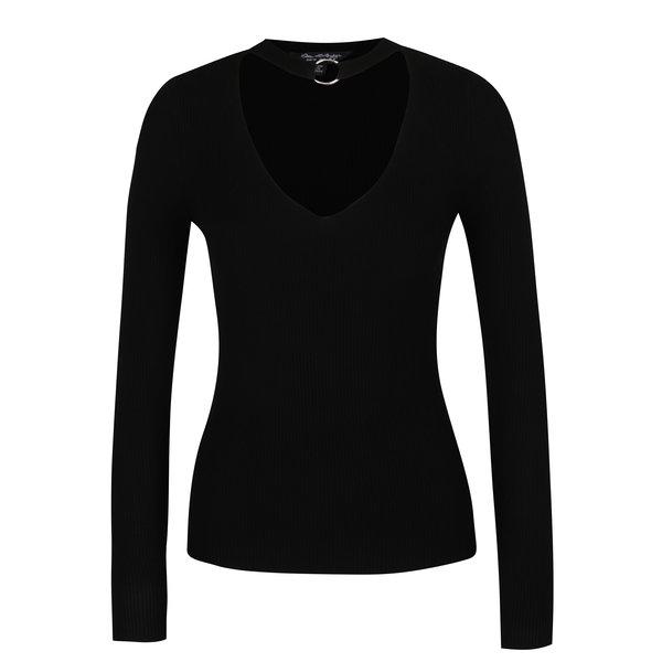 Bluză neagră cu chocker cu detaliu argintiu - Miss Selfridge