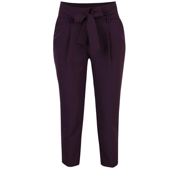 Pantaloni violet cu talie înaltă și fundă - Dorothy Perkins