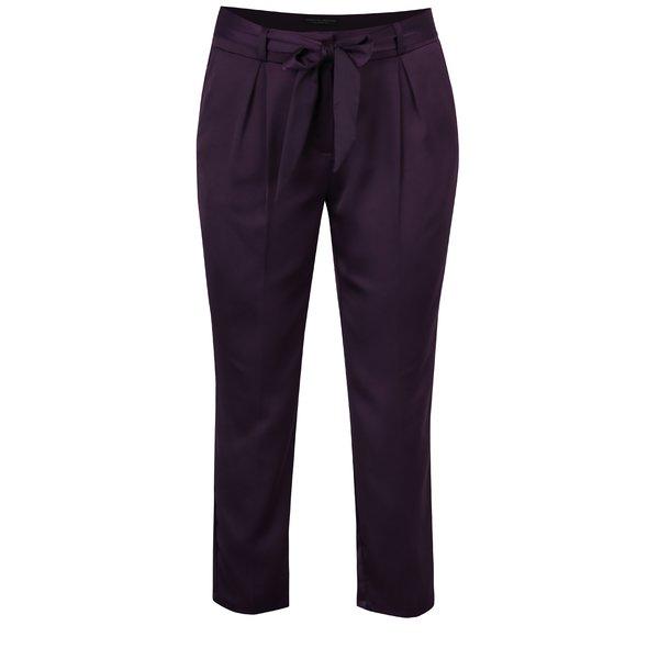 Pantaloni violet cu fundă în talie - Dorothy Perkins