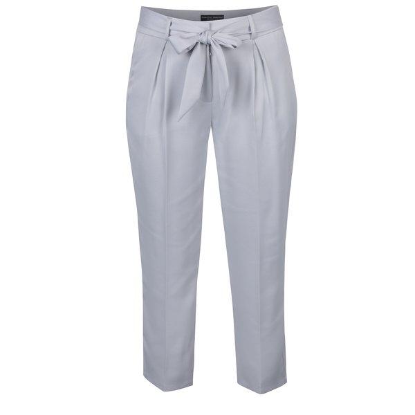 Pantaloni gri deschis cu fundă în talie - Dorothy Perkins