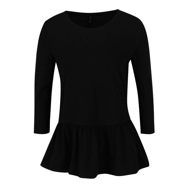 Bluză peplum neagră cu mâneci 3/4 ONLY Live