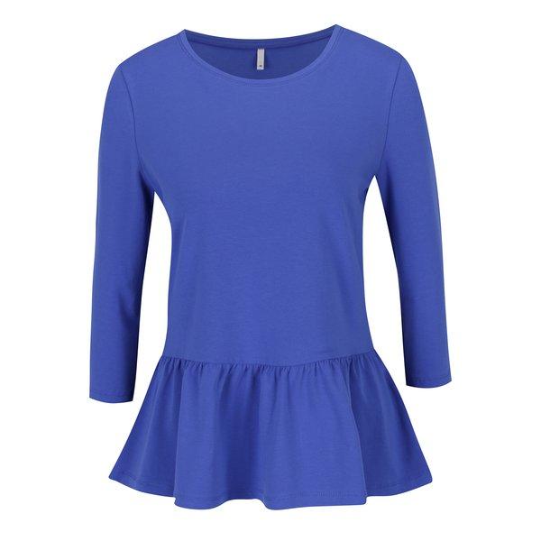 Bluză peplum albastră cu mâneci 3/4 ONLY Live