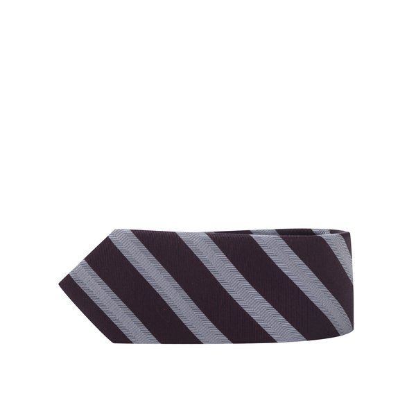 Cravată burgundy din mătase naturală - Selected Homme New
