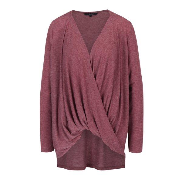 Bluză violet asimetrică din jerseu cu drapaje VERO MODA Honie