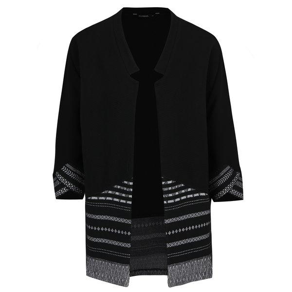 Cardigan negru cu print geometric – Desigual Vir