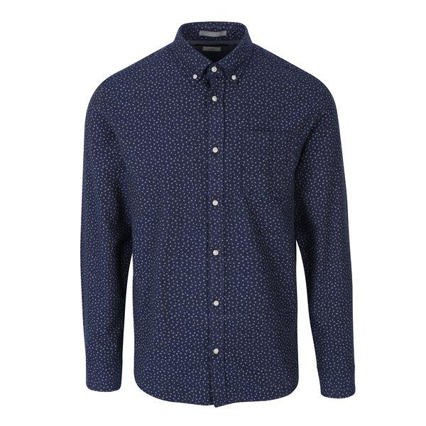 Camasa bleumarin cu print abstract si buzunar Jack & Jones Blue Fix