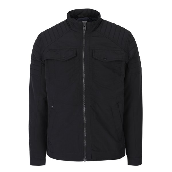 Jachetă neagră de primăvară / toamnă cu buzunare - Jack & Jones Catel