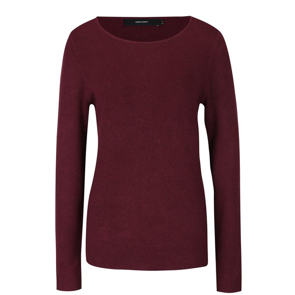 Pulover roșu bordo VERO MODA Glory