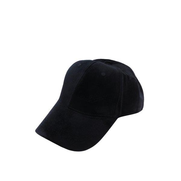 Șapcă neagră cu aspect catifelat Pieces Romina