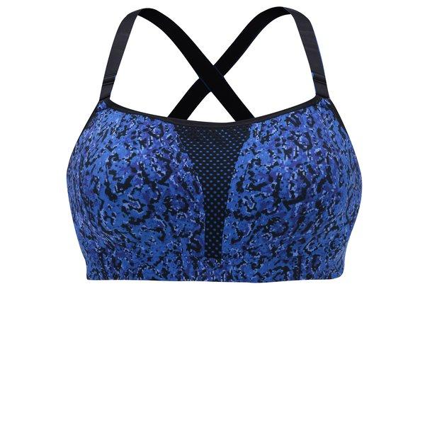 Bustier sport cu print negru cu albastru Maidenform