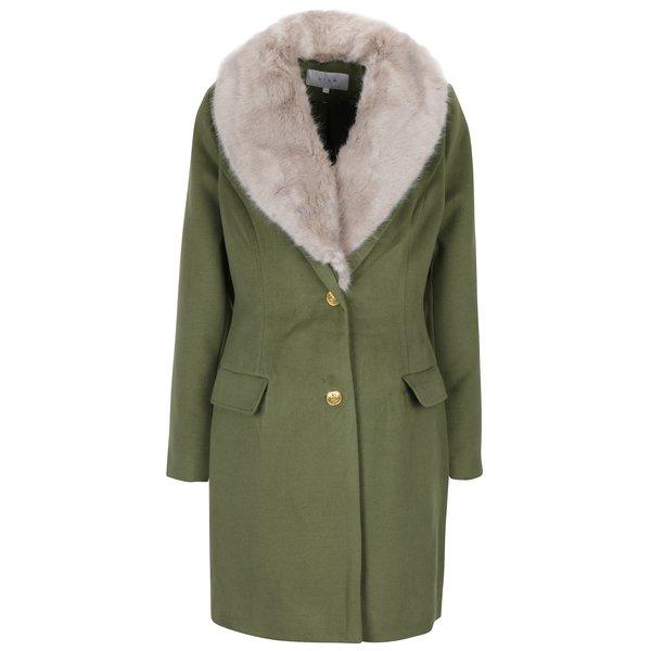 Palton de iarnă kaki cu blană artificială pentru femei - VILA Coral