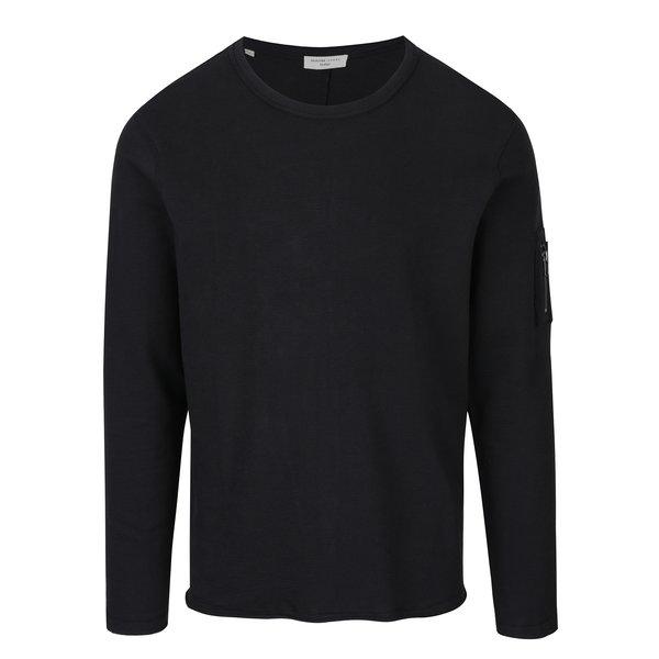 Bluză neagră din bumbac - Selected Homme Daniel