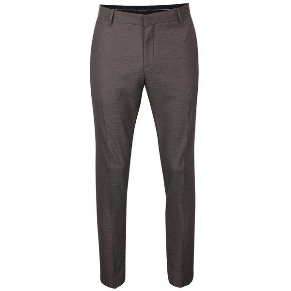 Pantaloni maro pentru bărbați - Selected Homme Done Buffalo