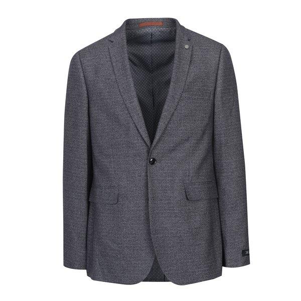 Sacou de costum gri cu revere - Burton Menswear London