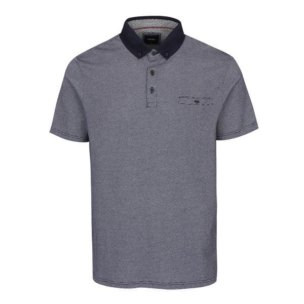 Tricou polo alb & negru pentru bărbați - Burton Menswear London