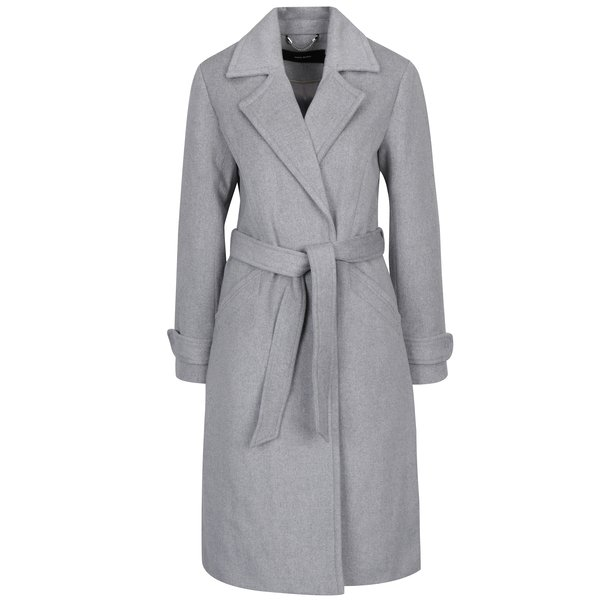 Palton gri din amestec de lana VERO MODA Jess