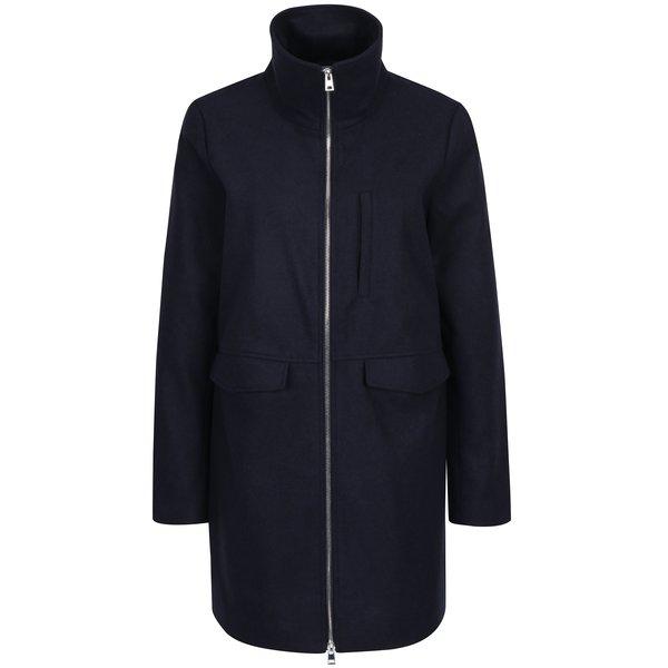 Jachetă bleumarin din stofă cu fermoar Noisy May Minna