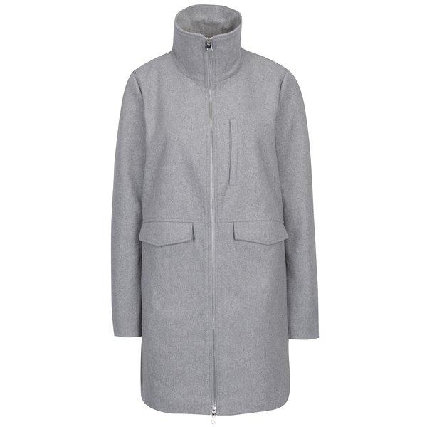 Jachetă gri din stofă cu fermoar Noisy May Minna