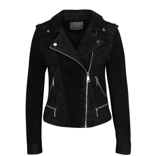 Jacheta biker neagra din piele intoarsa – VERO MODA Royce