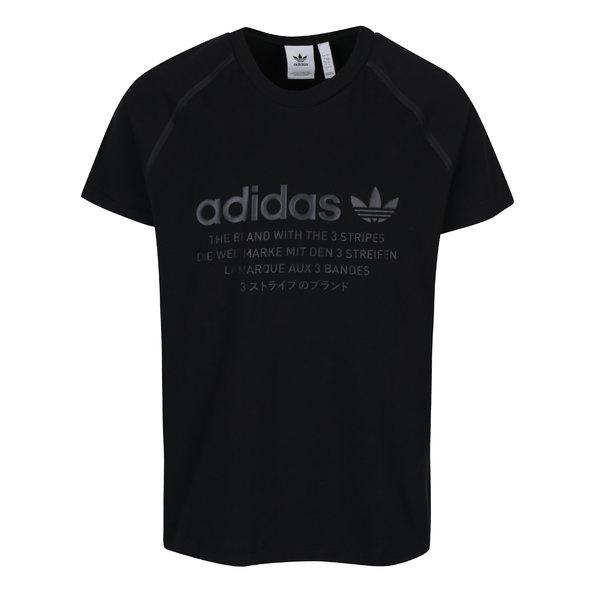 Tricou negru bărbătesc cu print adidas Originals