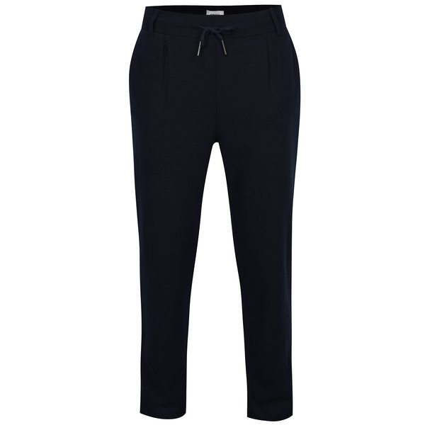 Pantaloni bleumarin cu croi drept și talie elastică ONLY Summer