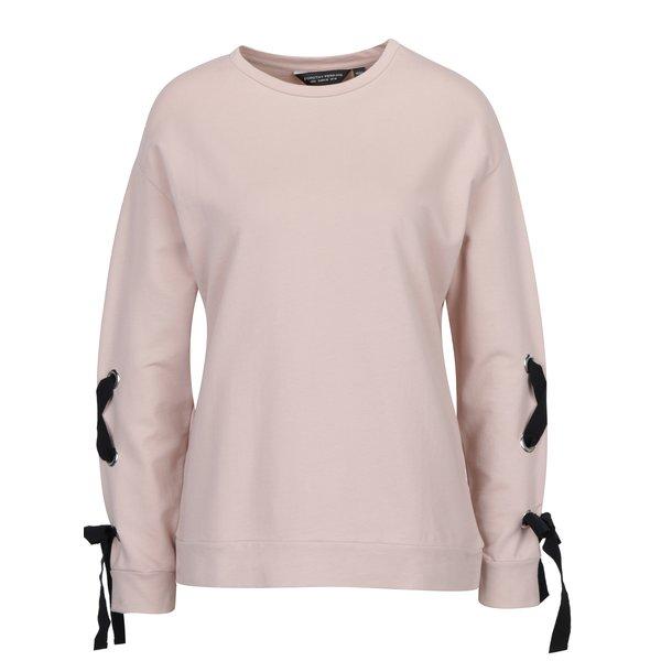 Bluză roz cu funde pe mâneci Dorothy Perkins