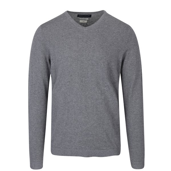Pulover gri melanj cu decolteu en coeur - Jack & Jones Luke