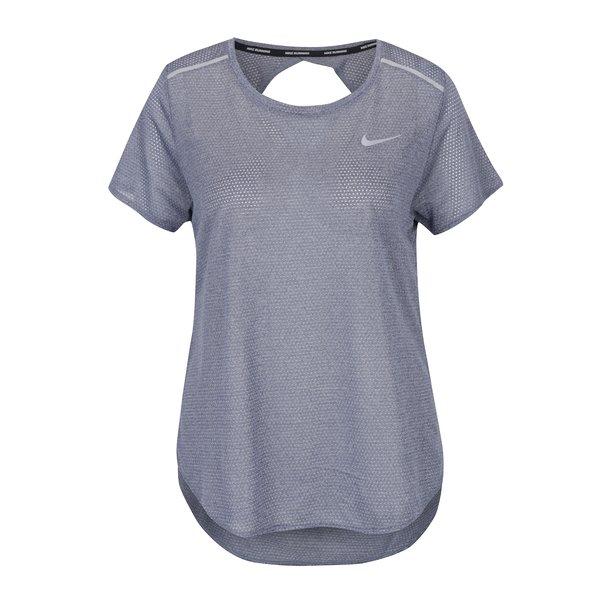 Tricou sport gri cu decupaj la spate Nike