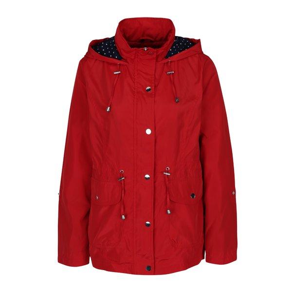 Parka impermeabilă roșie cu glugă pentru femei - M&Co