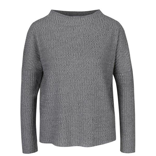 Pulover subțire gri tricotat fin - Jacqueline de Yong Mei