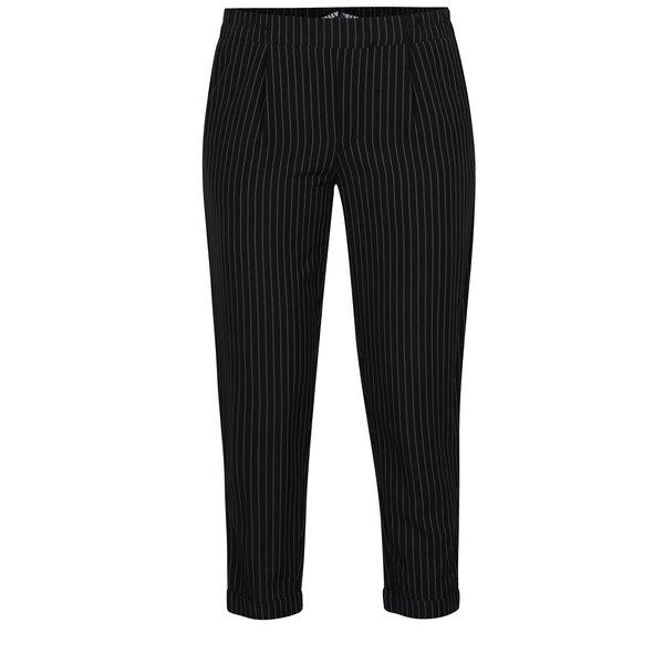 Pantaloni negri cu dungi fine - TALLY WEiJL