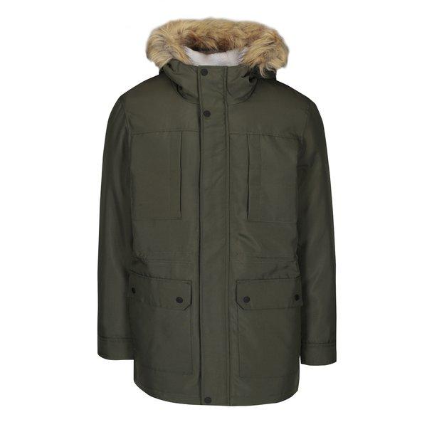 Jachetă parka kaki cu glugă ONLY & SONS Eskil