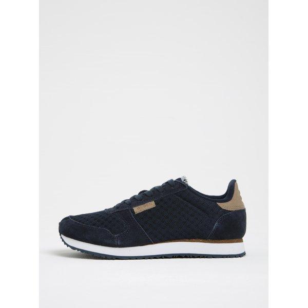 Pantofi sport bleumarin cu detalii din piele întoarsă Woden Ydun pentru femei