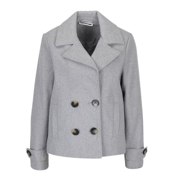 Jachetă scurtă gri cu nasturi Noisy May Minna